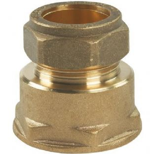 22mm compression fitting straight female iron (Bag of 10=£19.98)